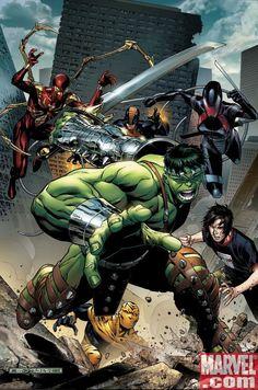 #Hulk #Fan #Art. Avengers - The Initiative #5 cover) By: Jim Cheung. [THANK U 4 PINNING!!]