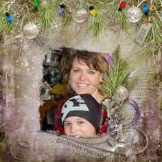 Cute and Festive pages made with #DeckTheHalls by #snickerdoodledesigns #digitalscrapbooking