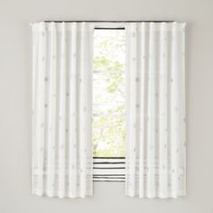 Ling Silver Stars Make These Curtains A Playful Addition To Any Kid S Room Or Playroom