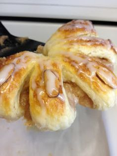 Homemade Bear Claws with Honey Glaze (100th blog post!) from: MorningNooNight