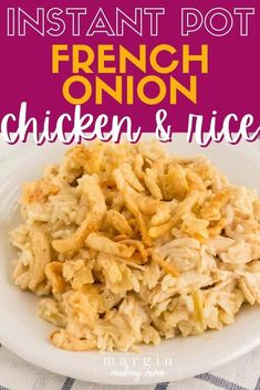 Recipe Using French Onion Soup, Easy Chicken And Rice Soup Recipe, Crockpot French Onion Soup, Chicken And Rice Crockpot, French Onion Dip, French Onion Chicken, Onion Soup Recipes, Chicken Soup Recipes