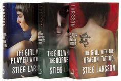 Larsson (Stieg) [The Millennium Trilogy] 3 vol., comprising The Girl with the Dragon Tattoo, 2008; The Girl who Played with Fire, 2009; The Girl who Kicked the Hornet`s Nest, 2009, first editions, original boards, dust-jackets, a fine set, 8vo. ***A complete set of Larsson`s bestselling Millennium Trilogy..