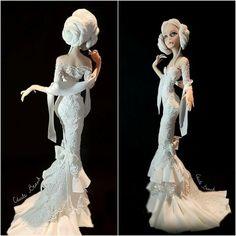 Lady Wedding Day ❤️ Fondant Figures, Cake Decorating, Wedding Day, Disney Princess, Lady, Dresses, Tutorials, Fashion, Pi Day Wedding