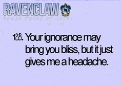 ravenclaw house rules for life
