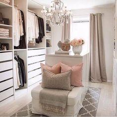 Kleiderschrank ideen Ideas for wardrobes # walk-in # wardrobe Walk In Closet Small, Walk In Closet Design, Bedroom Closet Design, Master Bedroom Closet, Closet Designs, Bathroom Closet, Wardrobe Design, Diy Bedroom, Bedroom Ideas