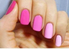 You don't have to spend a fortune on manicures - you just need to master as many DIY nail art designs as possible. Faded Nails, Gradient Nails, Crazy Nail Art, Crazy Nails, Nail Art Designs, Colorful Nail Designs, Pink Nail Polish, Pink Manicure, Super Nails