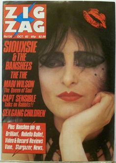 Siouxsie on the cover of Zig Zag, Oct. 82