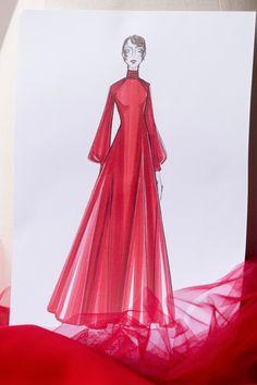 Dior Atelier, Princess Dress Patterns, Oscar Dresses, Maria Grazia, Dior Couture, Academy Awards, Red Silk, Silk Crepe, Fashion Show