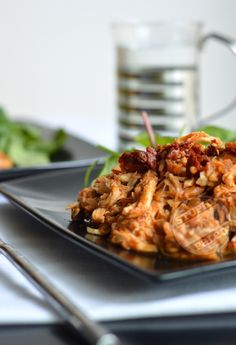 Kickin' BBQ Shredded Chicken - follow the suggestion of using dates in place of the honey.