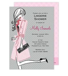 Let loose with this lingerie themed bridal shower or bachelorette party invitation! This stylish design is printed on luxurious heavyweight paper. Blank envelopes included. A portion of the proceeds from the sale of this product will be donated to breast cancer research and education.