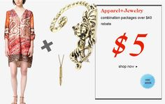 . Date: 9/03/2013-9/08/2013  2. on www.Romwomen.com  3. If you place an order about $25 clothes and $15 Jewelries here, which means you buy clothes and jewelries both worth at least $40, you will get $5 back. And you can use the $5 without limit.  4. This activity is towards all the customers including bloggers.