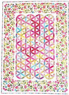 PATTERN - Jessie - feminine raw edge applique quilt PATTERN - Dont Look Now from ETSY shop of Kate Thomas