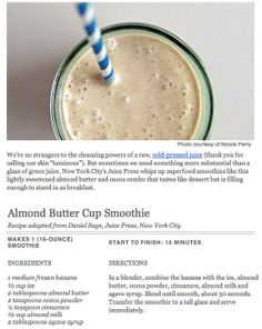 Almond Buttercup Smoothie #vitamix #smoothie #almondbutter
