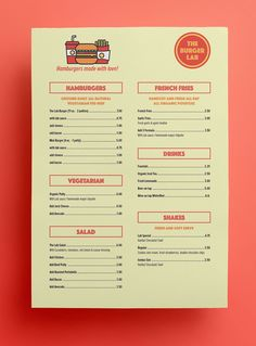 » THE BURGER LAB on Behance