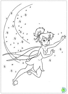 Tinkerbell coloring page- DinoKids.org