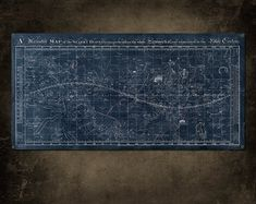 Vintage Map of the Universe on METAL 48x24  by ArtHouseGraffiti, $170.00