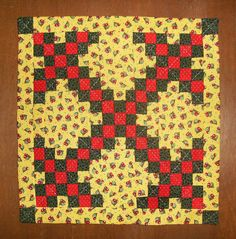 Patti Dahms, Oregon Lady Quilts -  hand quilted Double Irish Chain