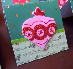 Christmas Ornaments and Holly Mini Cards or Gift Tags 2x2 (6) by PeculiarParchment on Etsy