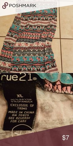 Maxi skirt Busy but cute. Elephants and other rue 21 Skirts Maxi
