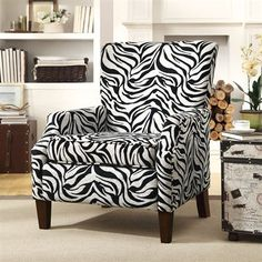 Coaster Fine Furniture 902135 Accent Chair This Coaster Fine Furniture accent chair comes with zebra patterned chenille upholstery. Comes in an espresso
