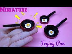 DIY Miniature Frying Pan & Eggs / Hướng dẫn làm chảo và trứng chiên cho búp bê / Ami DIY - YouTube Hello Everyone, Dollhouse Miniatures, Fairies Garden, Fairy Gardens, Sewing Crafts, Arts And Crafts, Dolls, Miniature Tutorials, Fairy Houses