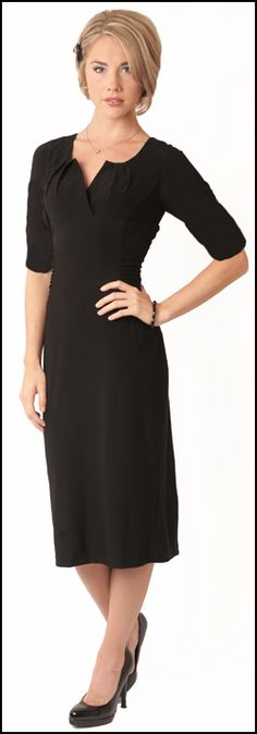 Modest Little Black Dress $54.99 http://www.jenclothing.com/mi ...