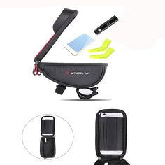 Bike Cycling Front Frame Tube Handlebar Bag Waterproof For Mobile Phone Radar Detector, Electric Scooter, Car Lights, Car Audio, Automobile, Touch, Phone, Motorcycles, Bags