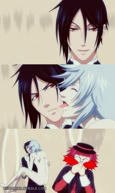 Look at Sebastian's face he's like wth Pluto only master can do that to me lol XD