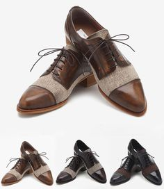 I'm in love with these leather brougue oxford shoes