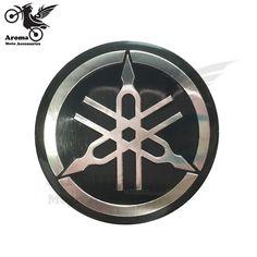 Auf Verkauf Runde Motorrad Aufkleber Fur Yamaha Logo Emblem Abzeichen Professionelle 3d Grosshandel Schwarz