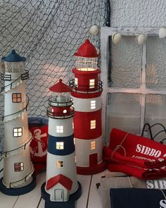 """30 tykkäystä, 4 kommenttia - BÅTSKIN (@batskinshop) Instagramissa: """"Nämä uudet majakkavalaisimet ovat ihastuttavia! Punainen väri tuo lämpimän tunnelman sisustukseen.…"""" Holiday Decor, Instagram, Home Decor, Decoration Home, Room Decor, Interior Decorating"""