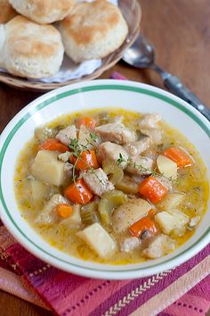 Slow Cooker Chicken Stew from @Lana Stuart | Never Enough Thyme http://www.lanascooking.com/2012/10/16/slow-cooker-chicken-stew/