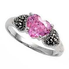 pink marcasite rings - Google Search