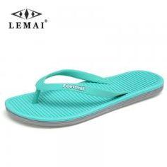 [ 20% OFF ] Big Size 36-45 Men Sandals New Brand Flip Flops Men Beach Slippers For Women Summer Shoes Flat Sandals Men Flip Flops 2017