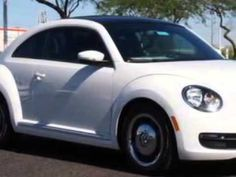 2013 Volkswagen Beetle, Lunde's Peoria Volkswagen- http://www.peoriavw.com/ you will love this Candy White 2013 Volkswagen Beetle, equipped with a 5 Cyl. engine  and an automatic transmission with  only 13 miles. enjoy an impressive 29 miles to the gallon on this great car with features like cruise control, driver side air bag, side air bags, pa...