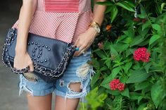 navy Chanel flap ove