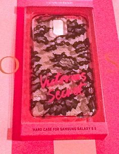 Victorias Secret SAMSUNG GALAXY S5 HARD CASE Lacie New in Box Clear Black Lace #VictoriasSecret
