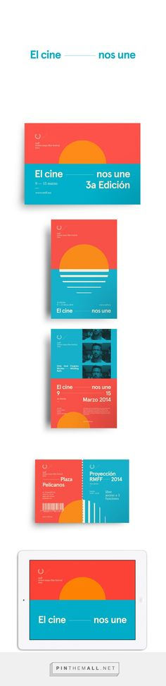 Nice colors, simple forms and claim. RMFF 2014 | AesseVisualJournal #print #corporative