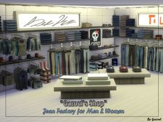 Jeans shop at Gazoul • Sims 4 Updates