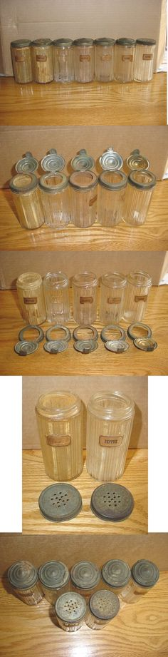 Image detail for -Hoosier Cabinet Triple Skip Canisters Vintage Appliances, Vintage Kitchenware, Vintage Glassware, Vintage Jars, Vintage Love, Vintage Items, Bottles And Jars, Glass Jars, Clear Glass