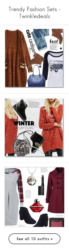 """""""Trendy Fashion Sets - Twinkledeals"""" by fshionme ❤ liked on Polyvore featuring Wrap, Guerlain, NARS Cosmetics, plaid, polyvoreeditorial, holidaystyle, twinkledeals, 7 For All Mankind, Victoria's Secret and David Jones"""