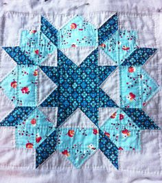 Swoon Quilt Block 3, Quilted | Flickr - Photo Sharing! Nice hand quilting