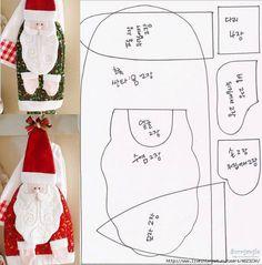 Meu Mundo Craft: Pegador de panelas Noel