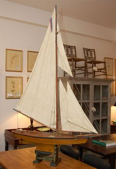 1900 Edwardian Pond Yacht Model image 3