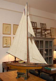 1900 Edwardian Pond Yacht Model image 3