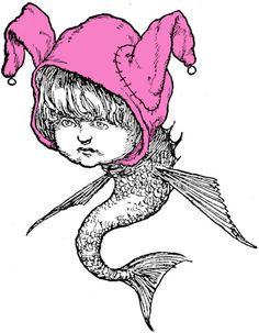 THIS MERMAID LOOKS LOUISE-LIKE!    A Bob's fan named Peter Donahue was researching a book on English cartoonist W. Heath Robinson when he came across this illustration of an eerily familiar mer-child. It's guaranteed to give you nightmares, which is a quality Louise herself would appreciate.