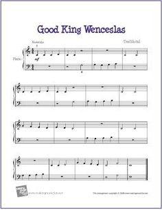 Good King Wenceslas | Free Sheet Music for Easy Piano http://makingmusicfun.net/htm/f_printit_free_printable_sheet_music/good-king-wenceslas-piano-solo.htm