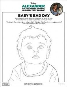 ALEXANDER AND THE TERRIBLE, HORRIBLE, NO GOOD, VERY BAD DAY free activity sheets http://superduperkidsblog.com/alexander-and-the-terrible-horrible-no-good-very-bad-day-activity-sheets/
