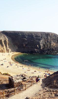 #Playa del Papagayo, Lanzarote, Canary Island