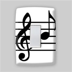 Adesivo para Espelho de Tomada Musica Clave de Sol